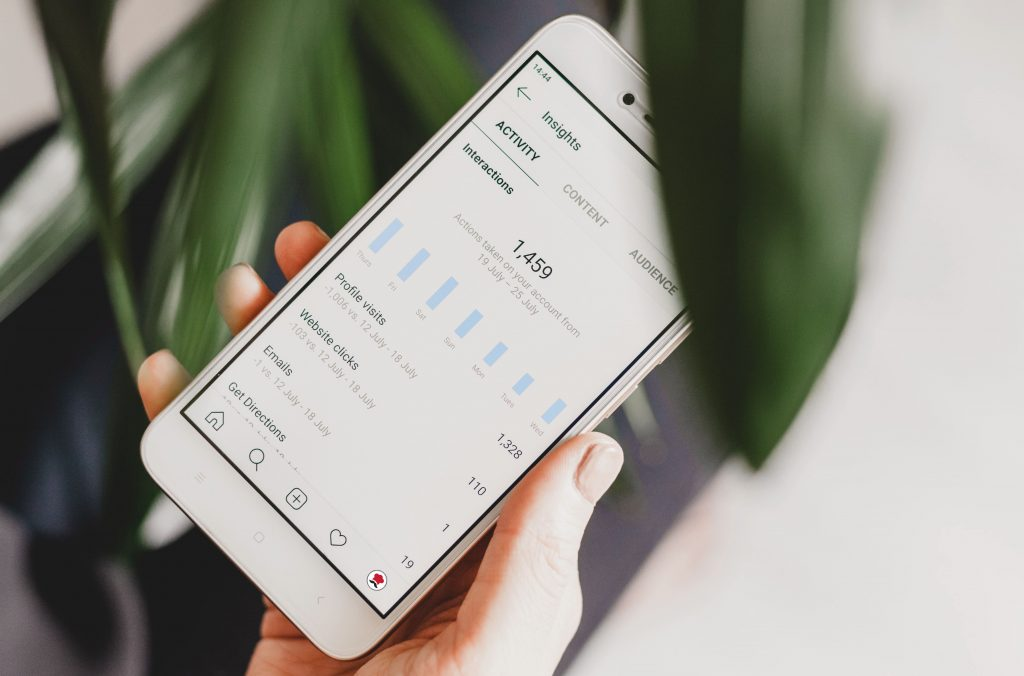 sezione statistiche di instagram disponibile per gli account business